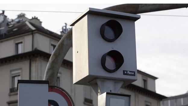 Eine Radarfalle zur Tempo-Kontrolle.