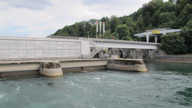 Das Wasserkraftwerk Schaffhausen.