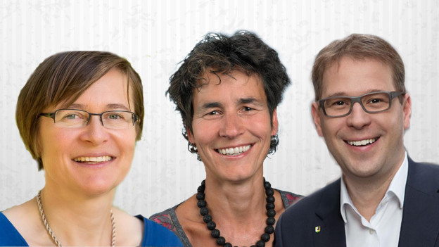 Katrin Huber Ott (SP), Daniel Preisig (SVP), Katrin Bernath (GLP)
