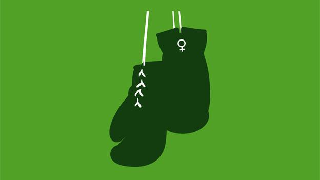 Grüne Boxhandschuhe