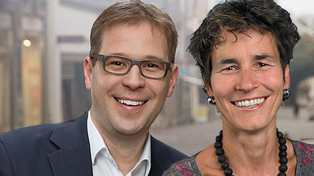 Daniel Preisig (SVP) und Katrin Huber Ott (SP).