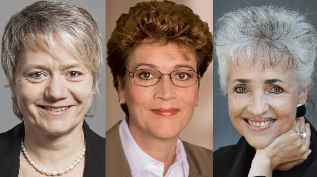 Porträt von Jacqueline Fehr, Silvia Steiner und Carmen Walker Späh.