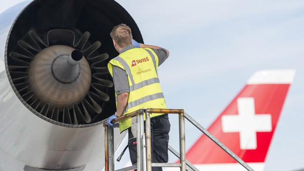 Swiss investiert in leisere Flugzeuge.