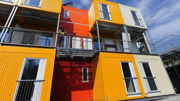 Containersiedlung in Zürich-Altstetten