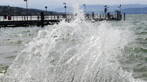 Stürmische Winde über dem Zürichsee