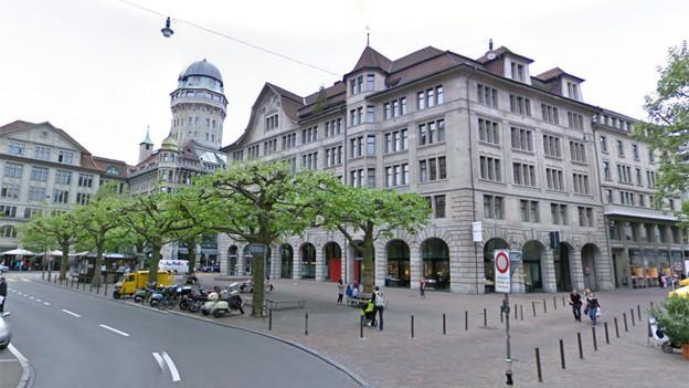 Ein Blick auf den Zürcher Werdmühleplatz.