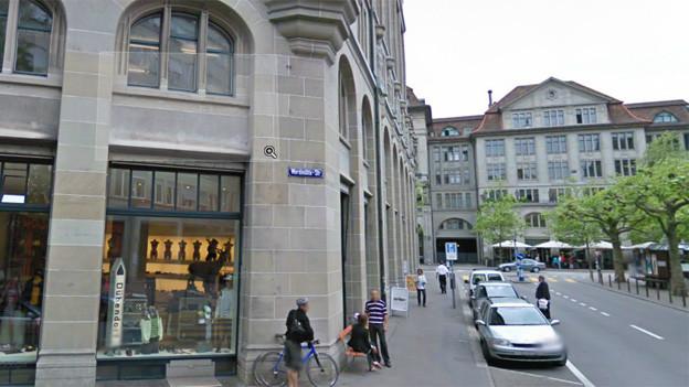 Blick auf die Werdmühlestrasse.