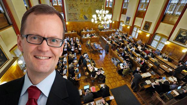 Mario Babini vor dem Zürcher Gemeinderat