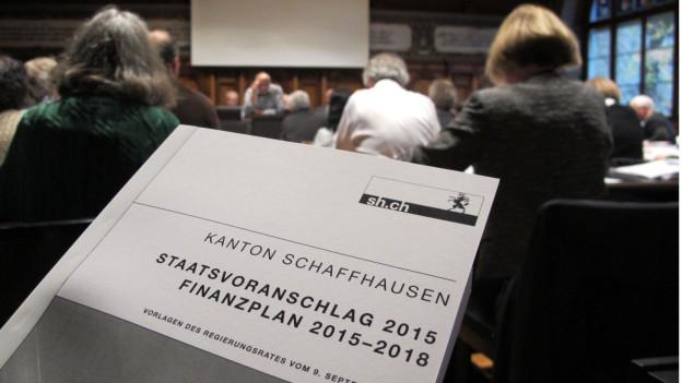 Der Budgetentwurf der Schaffhauser Regierung.