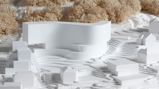 Modell vom neuen Hotel Waldhaus.