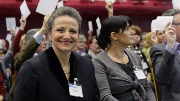 Strahlende Siegerin - Gabriela Winkler hat die Wiederwahl geschafft.