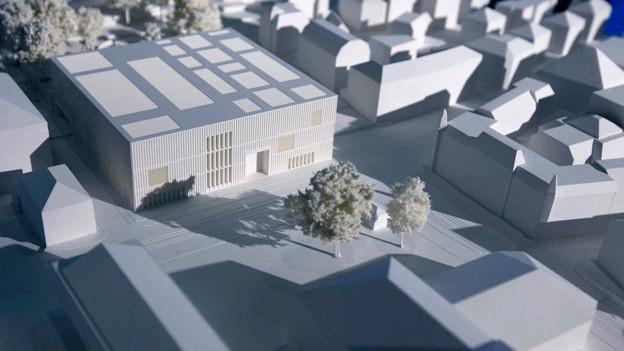 Das Modell eines Architektur-Projektes
