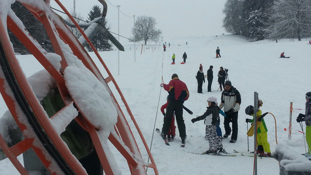 Blick auf den Skilift Dietikon.