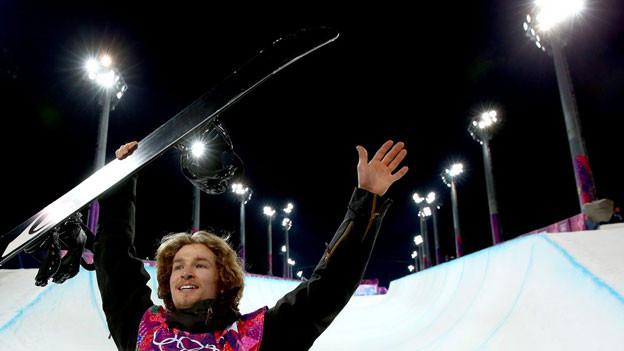 PodlatchikPodlatchikov feiert seinen Olympiasiegov feiert seinen Olympiasieg