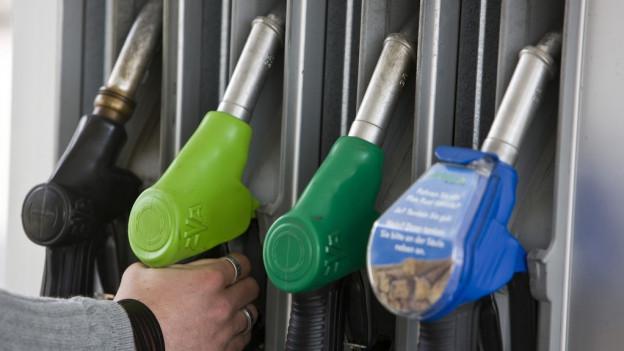 Zapfsäule einer Tankstelle.