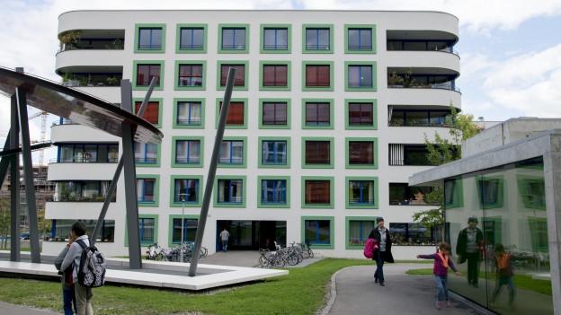 Der Neubau der Genossenschaftssiedlung «Sunnige Hof» in Zürich Albisrieden.