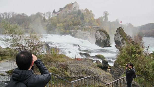 Rheinfall Schaffhausen: Ein beliebtes Ziel für Touristen, das der Kanton Schaffhausen fördern will.