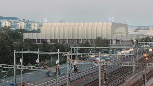 Visualisierung des Stadions in Zürich Altstetten.