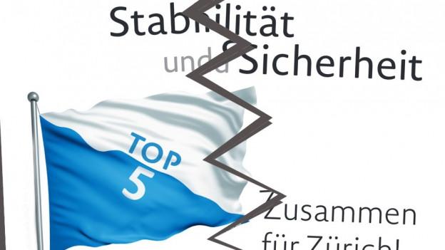 Das Top Five Plakat mit einem Riss in der Mitte