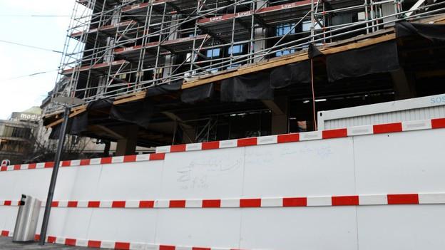 Baustelle in Zürich