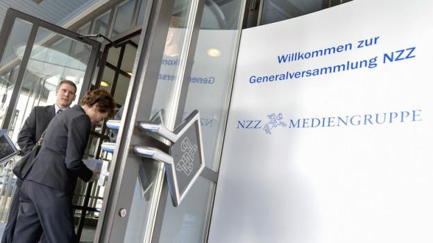 Generalversammlung der NZZ im April 2015