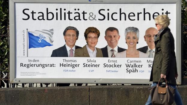 Das bürgerliche Fünferticket holte Silvia Steiner und Carmen Walker Späh in den Regierungsrat.