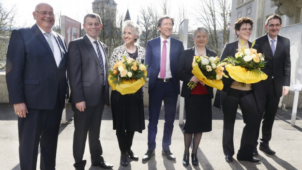 Zürcher Regierungsräte nach der Wahl vom 12. April 2015