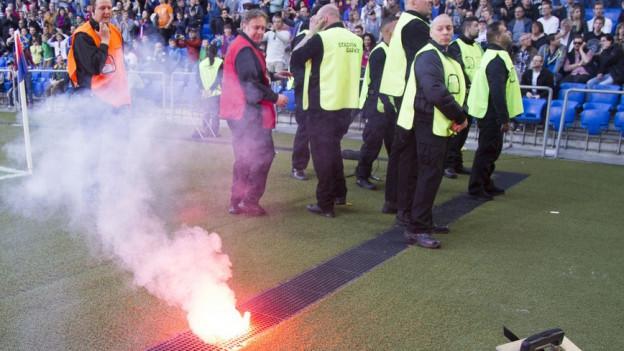 FCZ-Fan-Randale beim Spiel gegen Basel