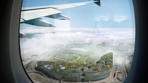 """Visualisierung des """"Circles"""" von einem Flugzeug aus gesehen."""