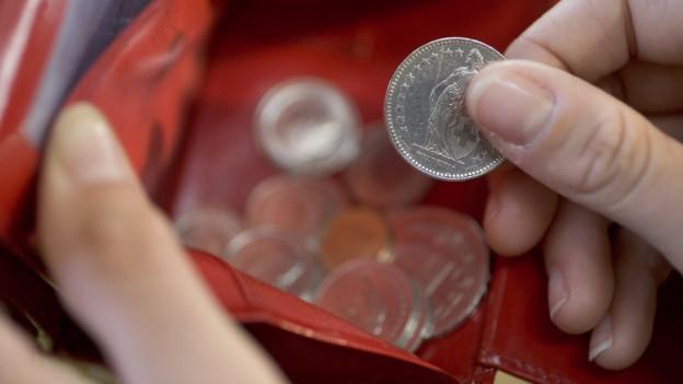 Portemonnaie mit Fünfliber