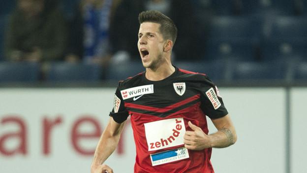Der für ein brutales Foul verurteilte FC Aarau-Spieler Sandro Wieser im Tenue.