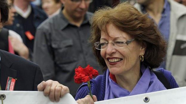 Julia Gerber Rüegg in einer Aufnahme von 2012, wo sie noch den 1. Mai-Umzug anführte.
