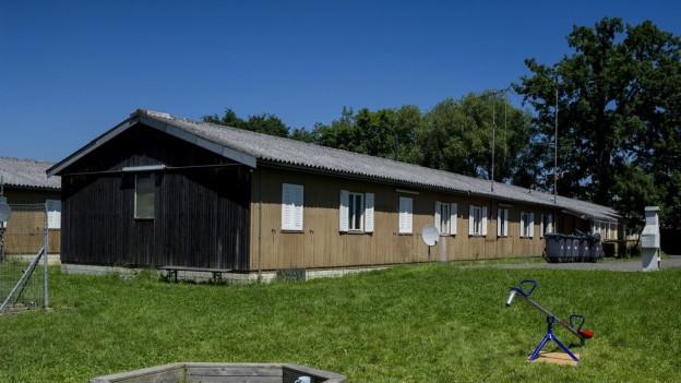 Eine Baracke auf dem Duttweiler-Areal