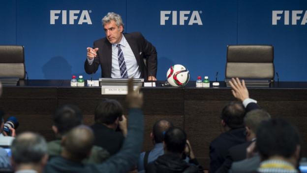 Medienkonferenz der Fifa am Zürcher Hauptsitz