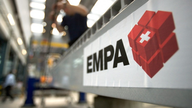Logo der EMPA am Hauptsitz in Dübendorf