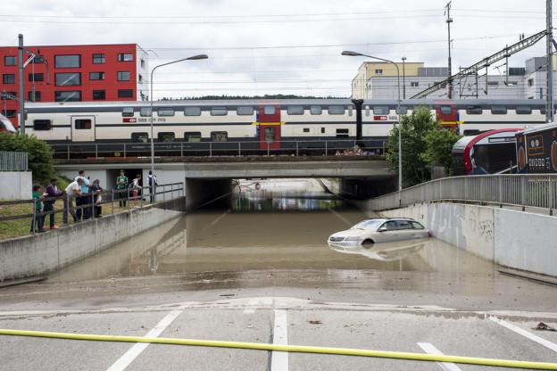 Unwetter in Schlieren