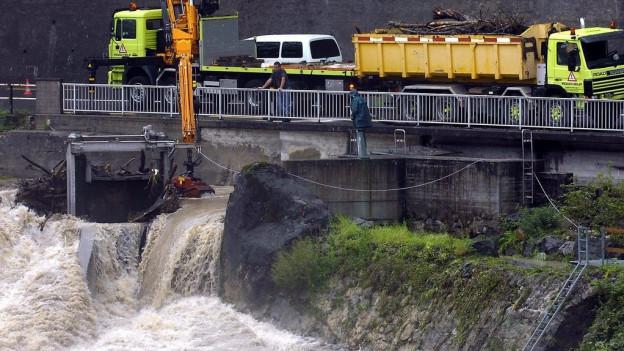 Hochwasser in Adliswil 2005.