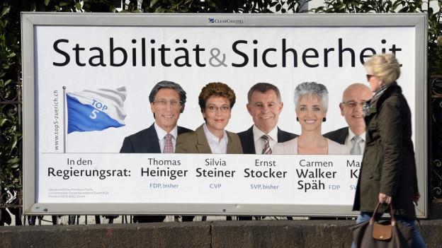Plakat der erfolgreichen Top-Five-Kampagne des Forums Zürich