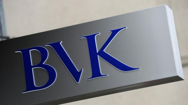 Das Logo der Pensionskasse BVK.