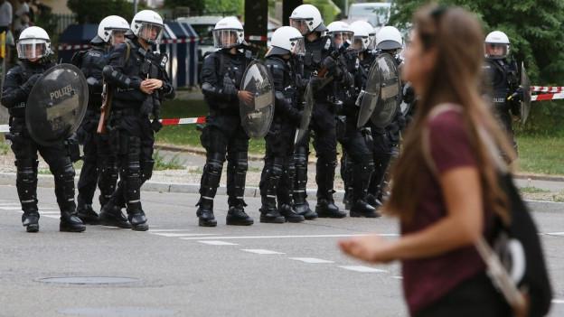 Polizeieinsatz auf dem Binz-Areal
