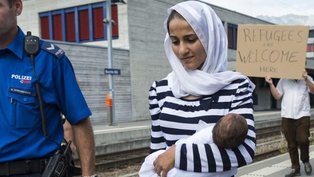Zahlreiche Schweizer wollen Flüchtlinge bei sich aufnehmen.