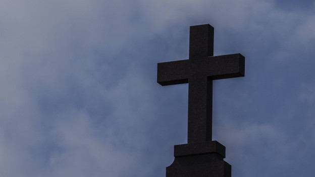 Das Kreuz einer Kirche.
