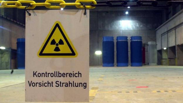 Wo sollen Atomabfälle in der Schweiz dereinst gelagert werden? Blick in ein Zwischenlager im deutschen Gorleben.