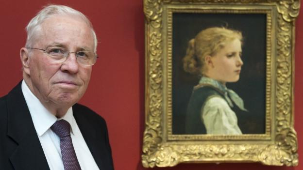 Sonst hängen die begehrten Bilder in seinem Haus: Christoph Blocher.