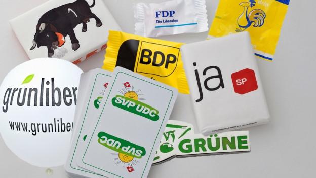 Give-aways der Parteien