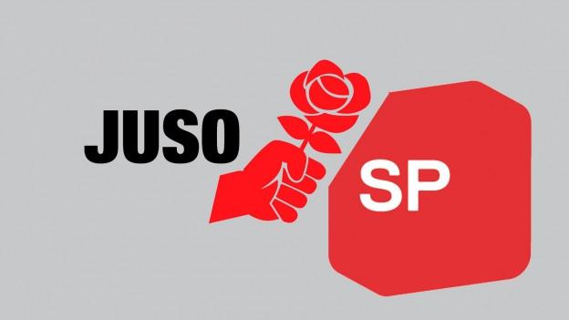 Die Logos von SP und Juso.