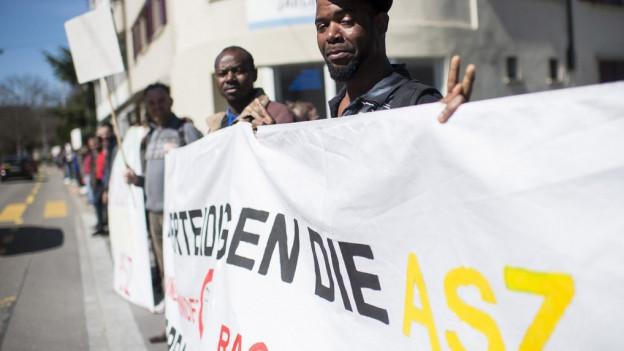 Im April protestierte die ASZ gegen Rassismus.