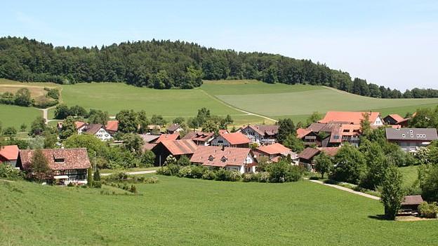 Wassernotstand in Schlatt: Das Problem war auch hausgemacht. Im Bild der Ortsteil Oberschlatt.