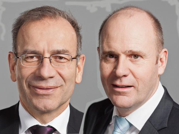 Hannes Germann und Thomas Hurter von der SVP Schaffhausen.