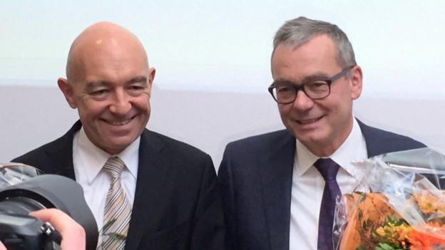 Das neue Zürcher Ständerats-Duo: Daniel Jositsch (SP, natürlich links) und Ruedi Noser (FDP, rechts).